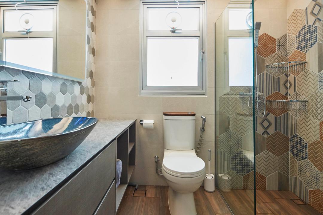 Northshore Drive, Ultra Space Design, Scandinavian, Contemporary, Bathroom, HDB