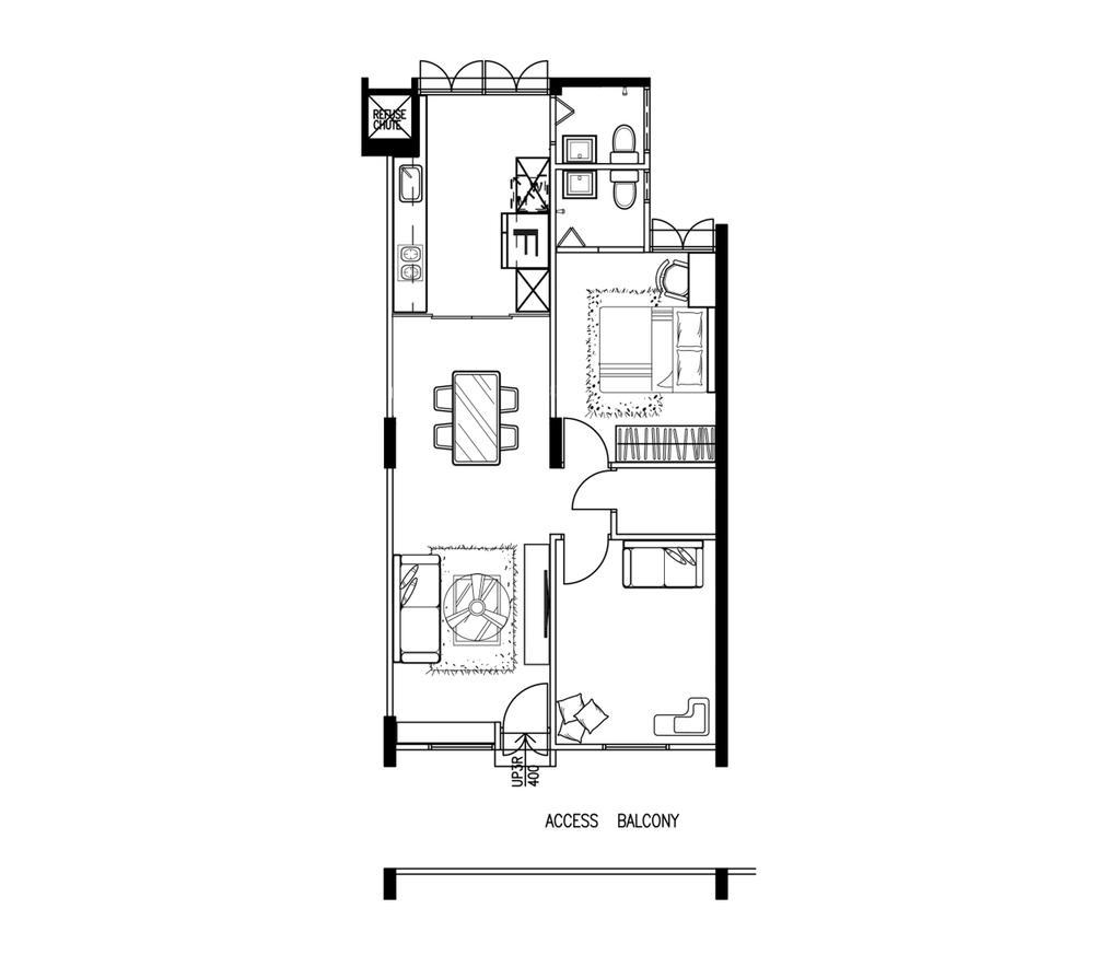 Scandinavian, HDB, Geylang Bahru Street, Interior Designer, R Interior | R 设计团队, 3 Room Hdb Floorplan, Space Planning, Final Floorplan