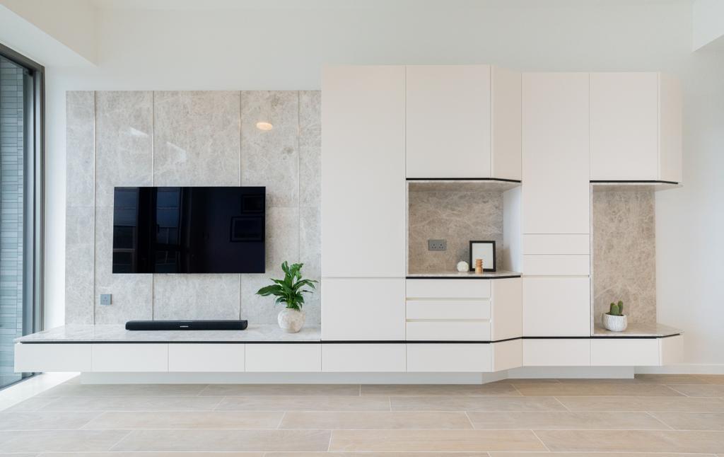 摩登, 私家樓, 客廳, 白石角嘉熙, 室內設計師, B.R.G. Interior Design, 當代, 過渡時期