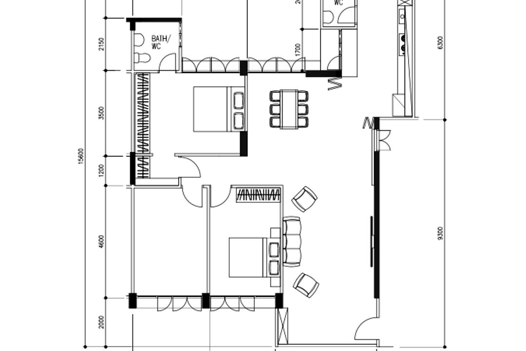 Bukit Batok Street 21, Carpenter Direct, Minimalistic, Scandinavian, HDB, 5 Room Hdb Floorplan, 5 Room Improved Stairs, Final Floorplan