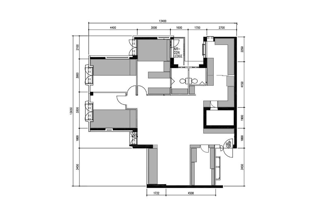 Lompang Road, Apartment, Contemporary, Scandinavian, HDB, Executive Apartment Hdb Floorplan, Executive Apartment Point Block End, Final Floorplan