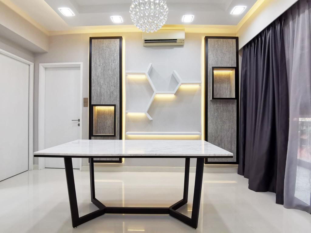 Contemporary, Condo, Dining Room, Bluwaters, Interior Designer, Granvision D'sign