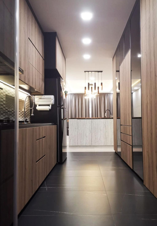 Contemporary, Landed, Kitchen, Pillai Road, Interior Designer, Granvision D'sign