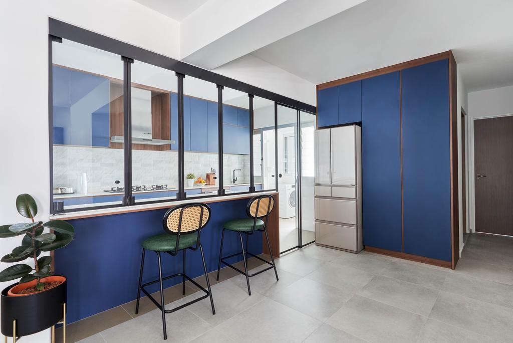 Contemporary, HDB, Kitchen, Ang Mo Kio Street 23, Interior Designer, Charlotte's Carpentry