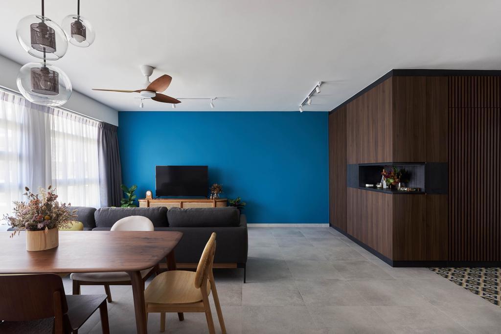 Contemporary, HDB, Living Room, Ang Mo Kio Street 23, Interior Designer, Charlotte's Carpentry