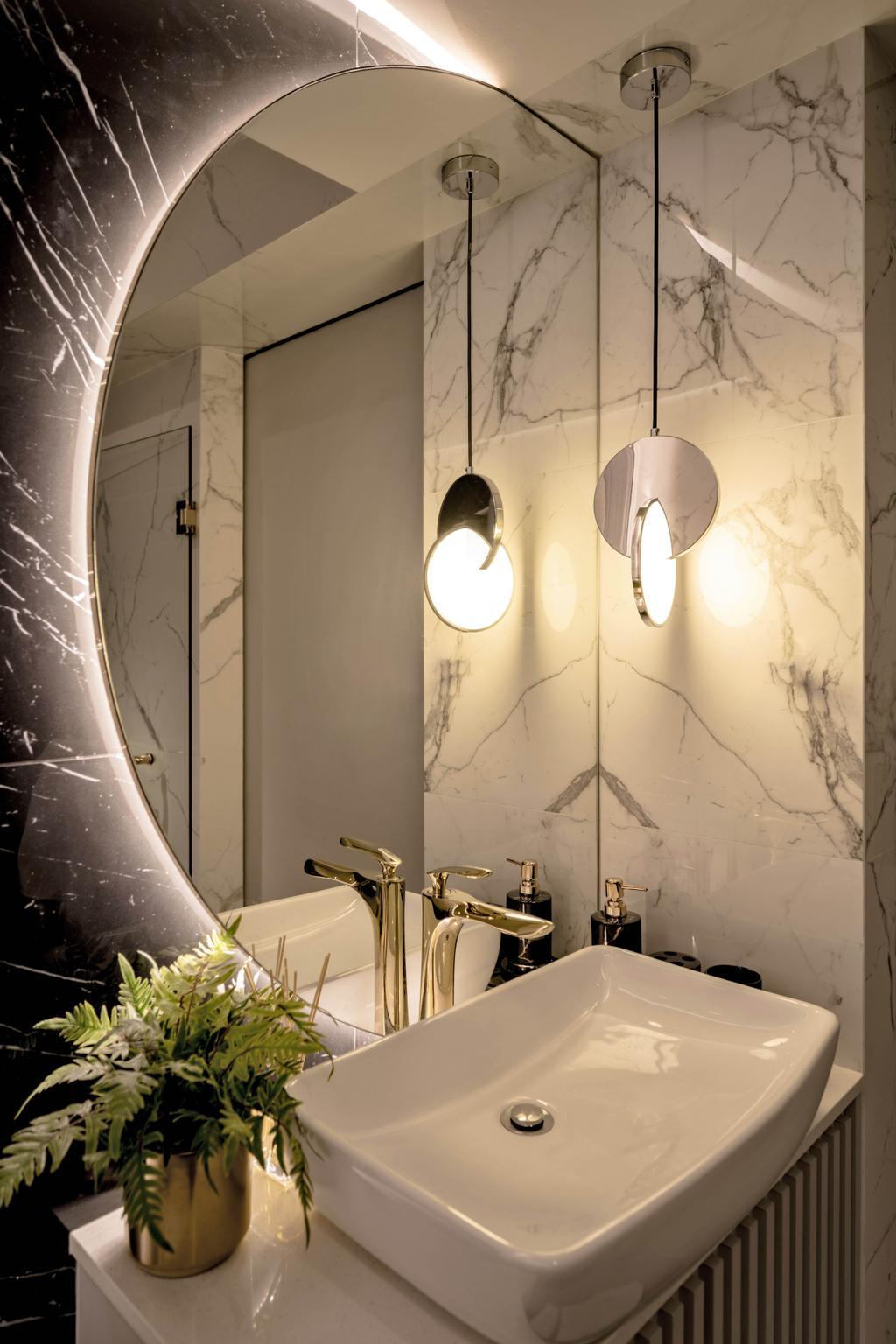 Contemporary, HDB, Bathroom, Westplains @ Bukit Batok, Interior Designer, Mr Shopper Studio