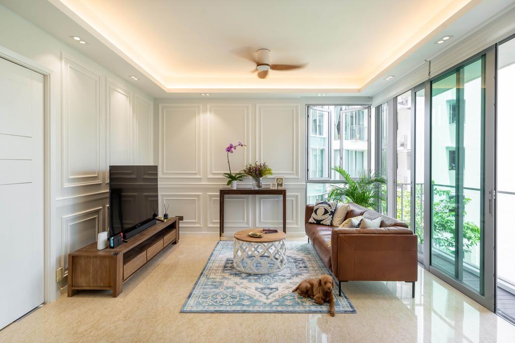 Modern, Condo, Living Room, Caribbean at Keppel Bay, Interior Designer, The Makers Design Studio