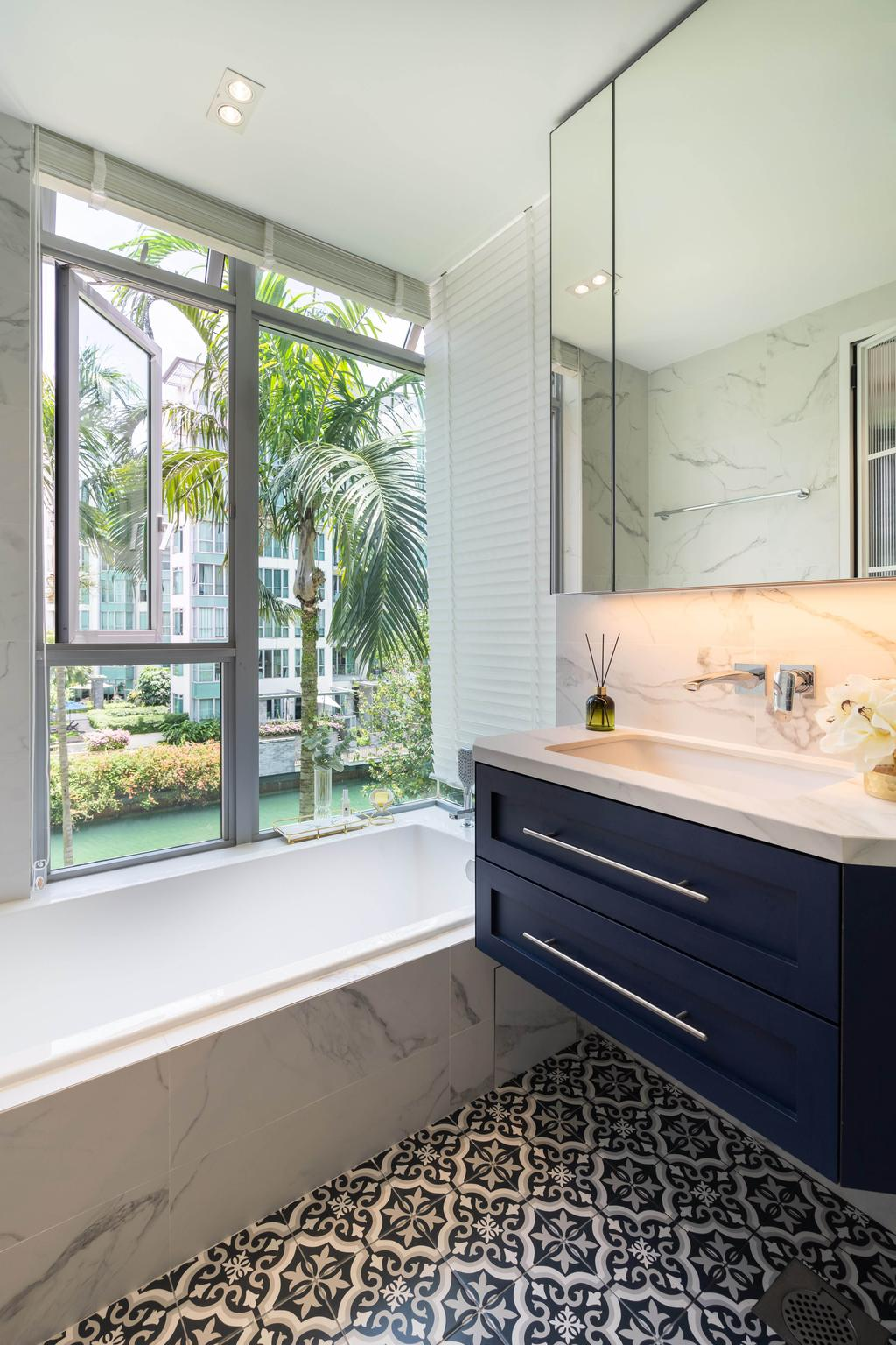 Modern, Condo, Bathroom, Caribbean at Keppel Bay, Interior Designer, The Makers Design Studio