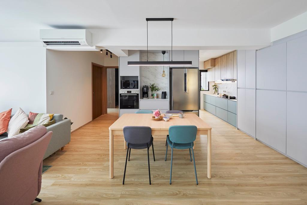 Scandinavian, HDB, Dining Room, Northshore Drive, Interior Designer, Carpenters 匠, Contemporary