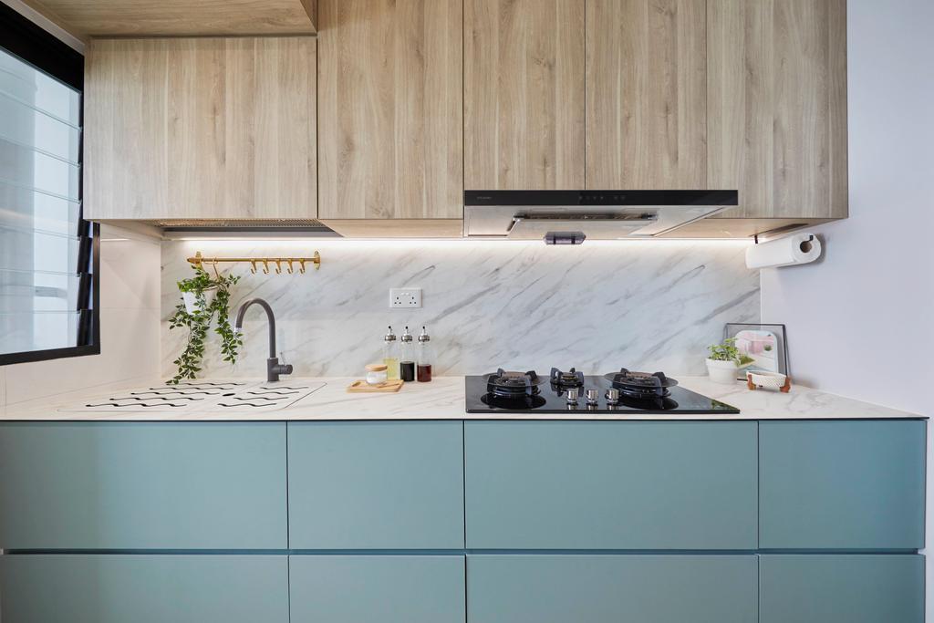 Scandinavian, HDB, Kitchen, Northshore Drive, Interior Designer, Carpenters 匠, Contemporary