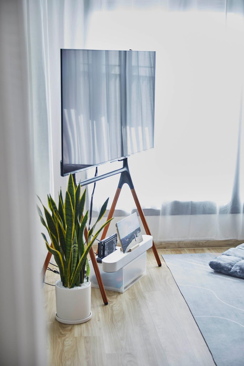 Scandinavian, HDB, Living Room, Northshore Drive, Interior Designer, Carpenters 匠, Contemporary