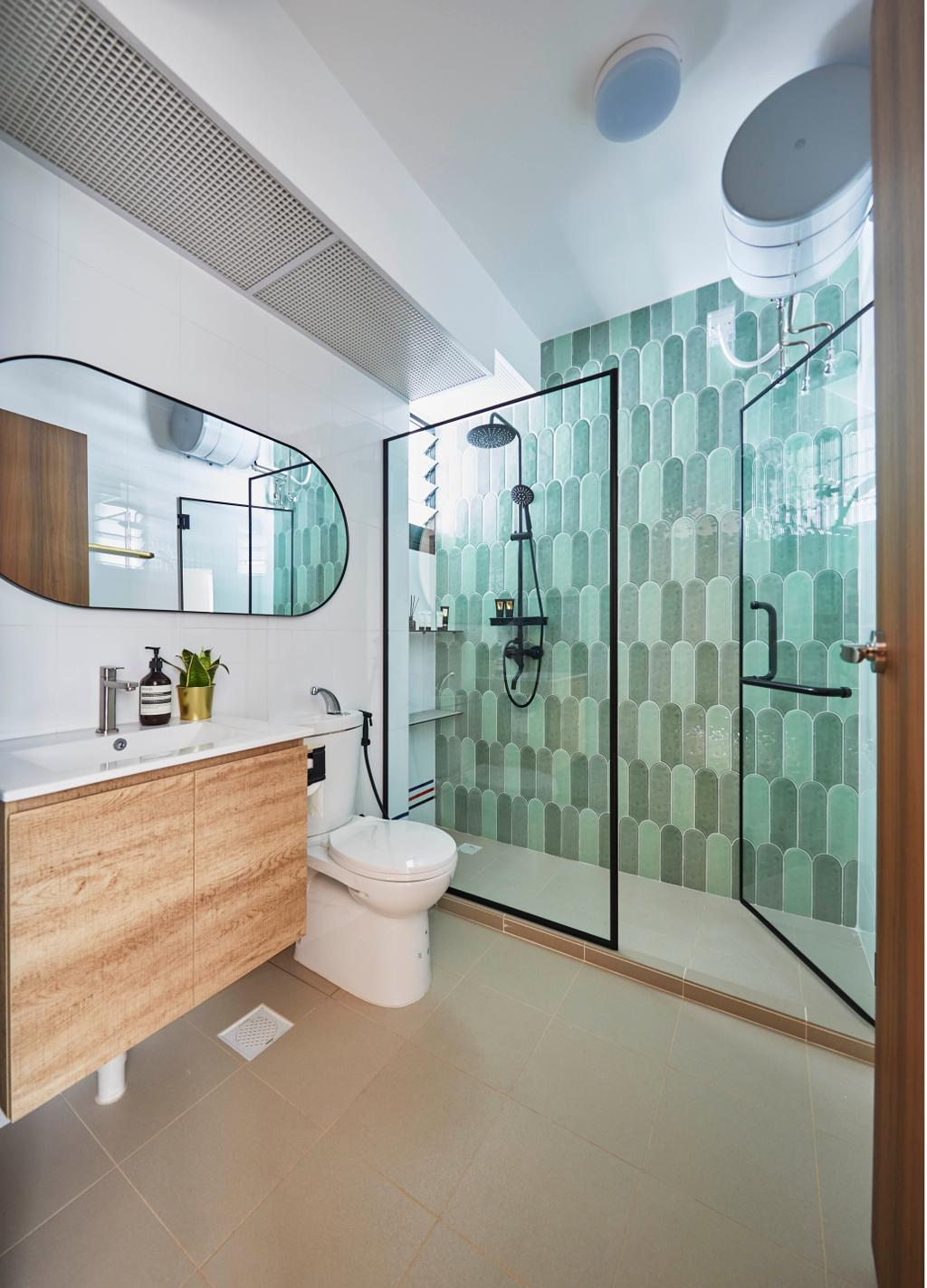 Scandinavian, HDB, Bathroom, Northshore Drive, Interior Designer, Carpenters 匠, Contemporary