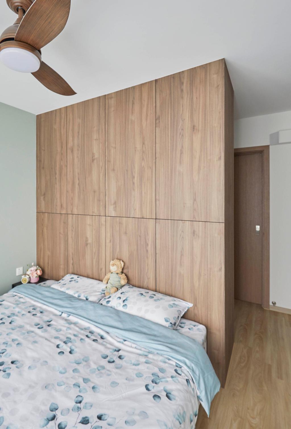 Scandinavian, HDB, Bedroom, Northshore Drive, Interior Designer, Carpenters 匠, Contemporary