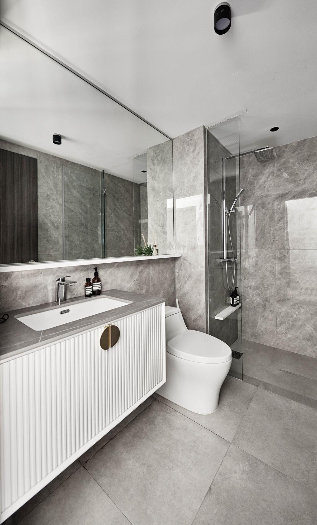 Contemporary, Condo, Bathroom, Rivertrees Residences, Interior Designer, MET Interior