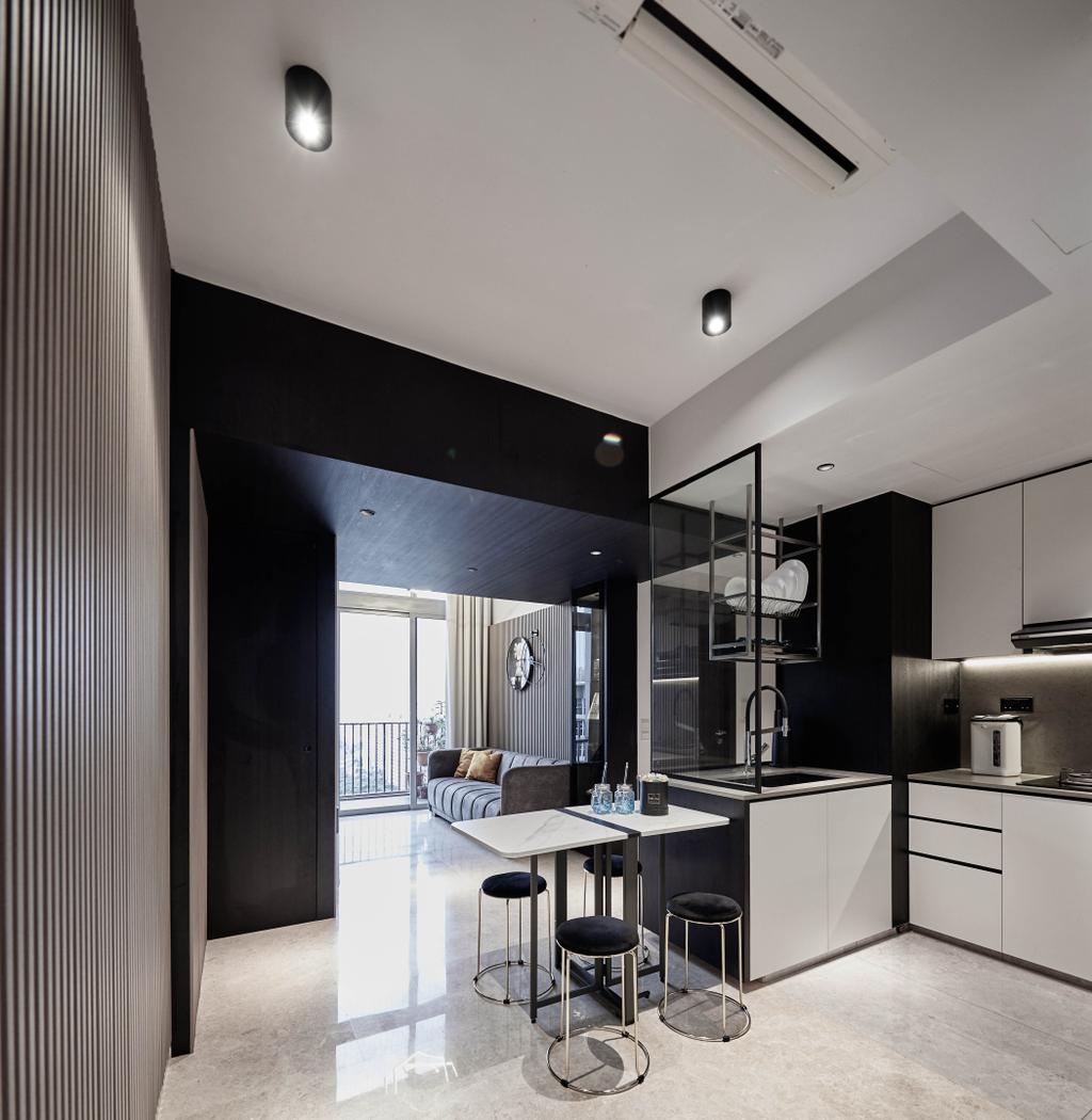Contemporary, Condo, Kitchen, Rivertrees Residences, Interior Designer, MET Interior