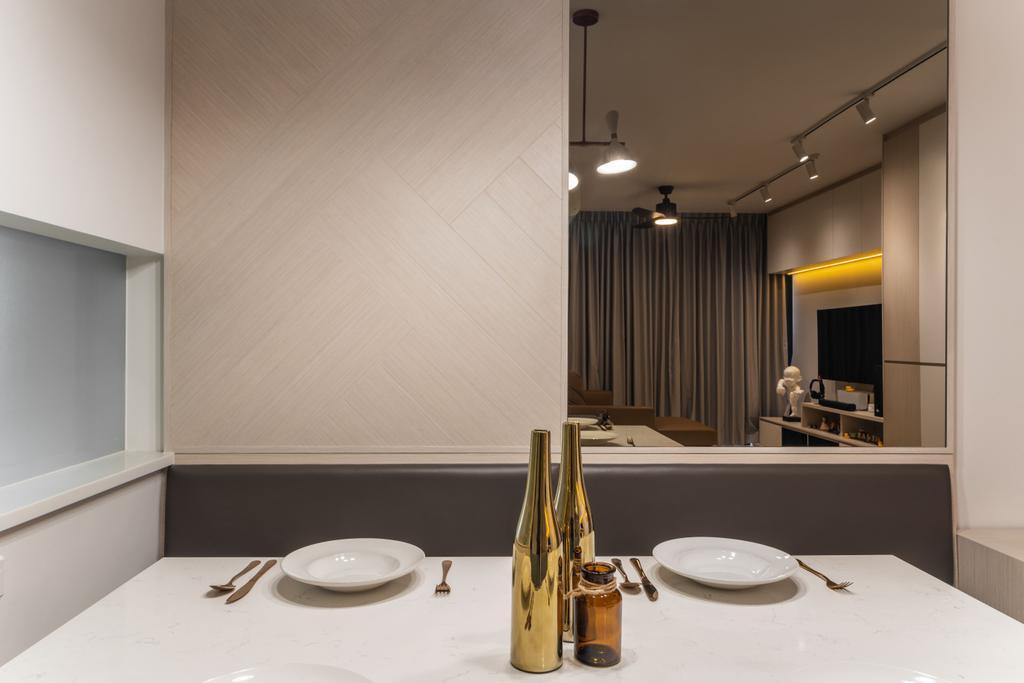 Scandinavian, Condo, Dining Room, Treasure Crest, Interior Designer, Fineline Design