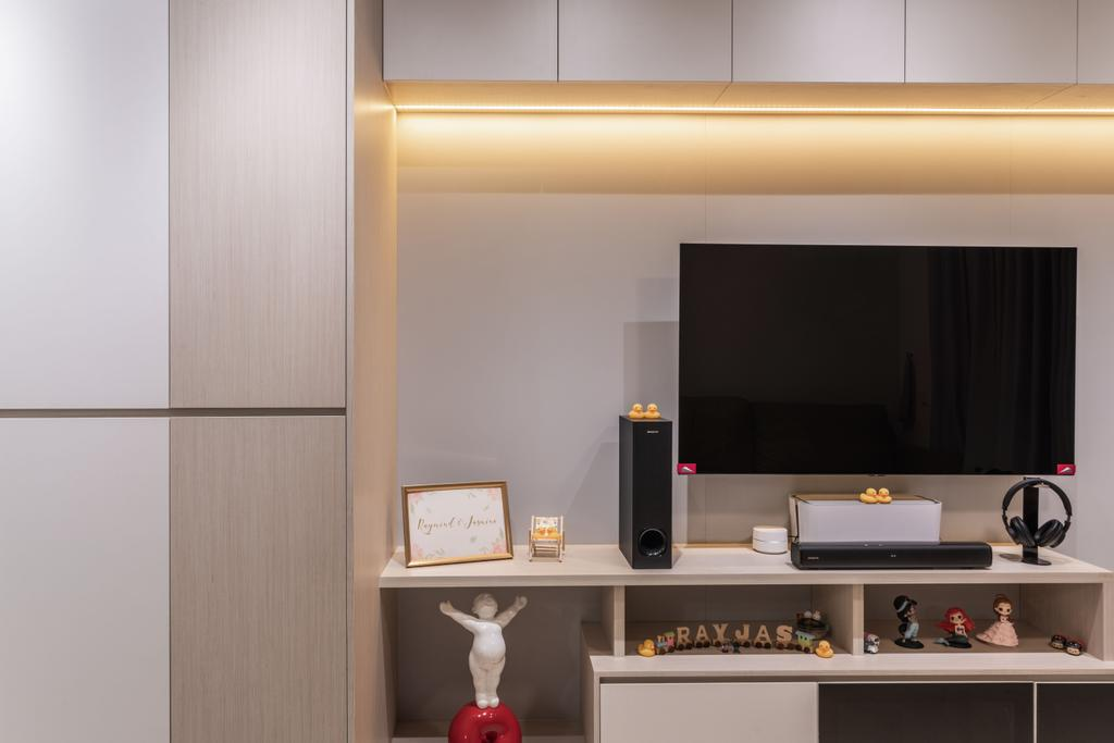 Scandinavian, Condo, Living Room, Treasure Crest, Interior Designer, Fineline Design