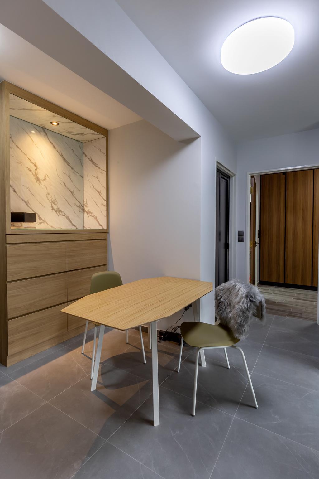 Contemporary, HDB, Dining Room, Skyparc @ Dawson, Interior Designer, Sozo Concept Studio