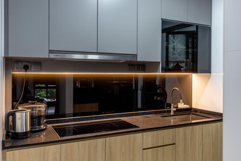 Contemporary, HDB, Kitchen, Skyparc @ Dawson, Interior Designer, Sozo Concept Studio