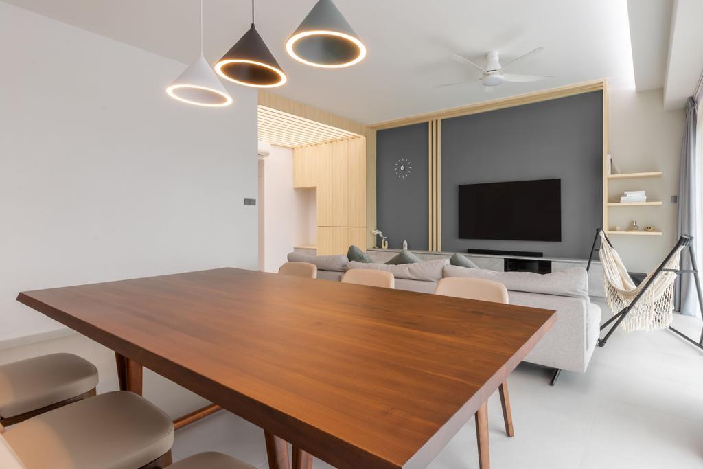 Contemporary, Condo, Living Room, Thomson 800, Interior Designer, Atum Interior