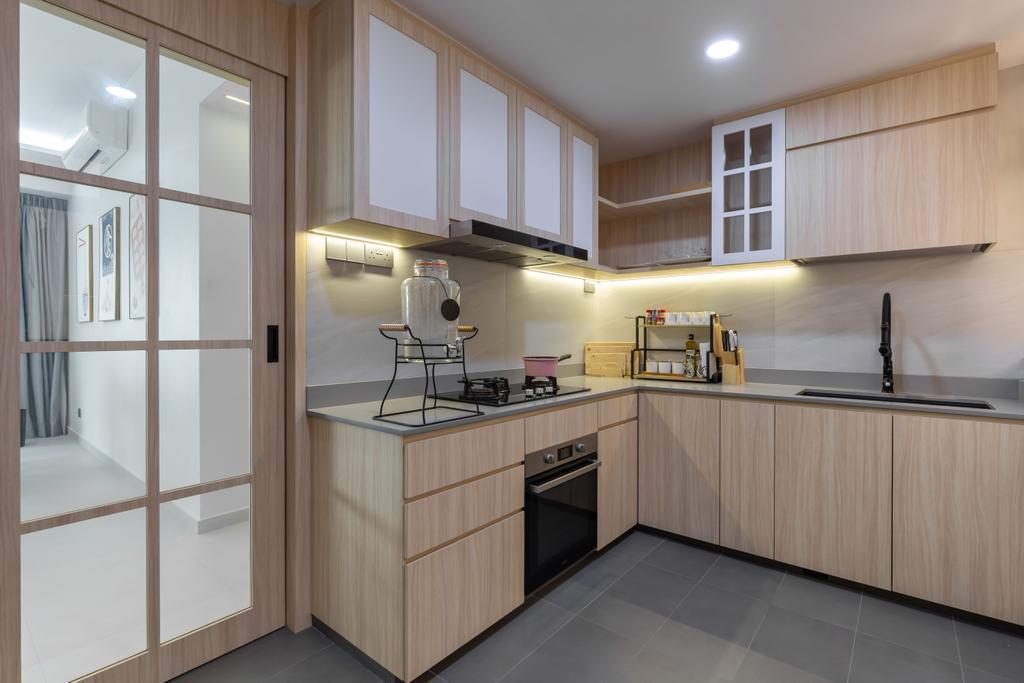 Contemporary, Condo, Kitchen, Thomson 800, Interior Designer, Atum Interior