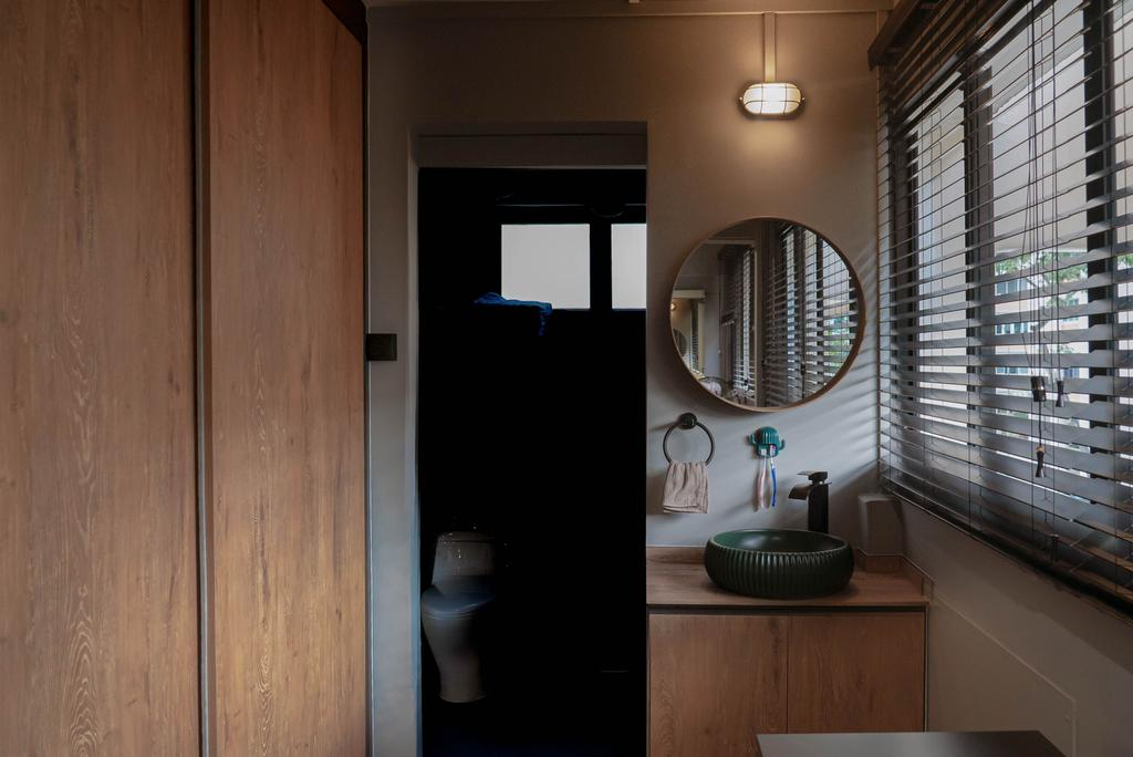Contemporary, HDB, Bedroom, Simei Street 1, Interior Designer, Kingsley Interior, Industrial