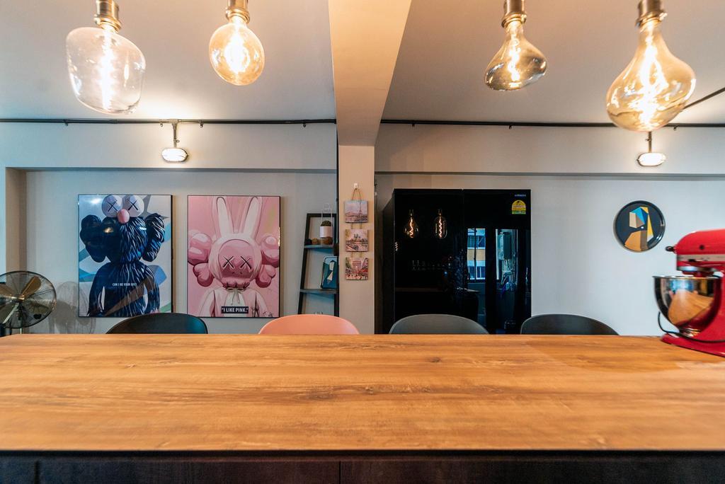 Contemporary, HDB, Dining Room, Simei Street 1, Interior Designer, Kingsley Interior, Industrial
