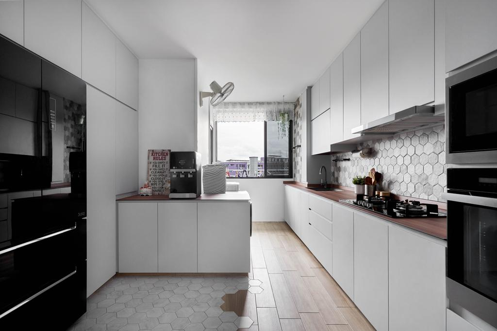 Contemporary, HDB, Kitchen, Jurong West Street 91, Interior Designer, Ethan Interiors