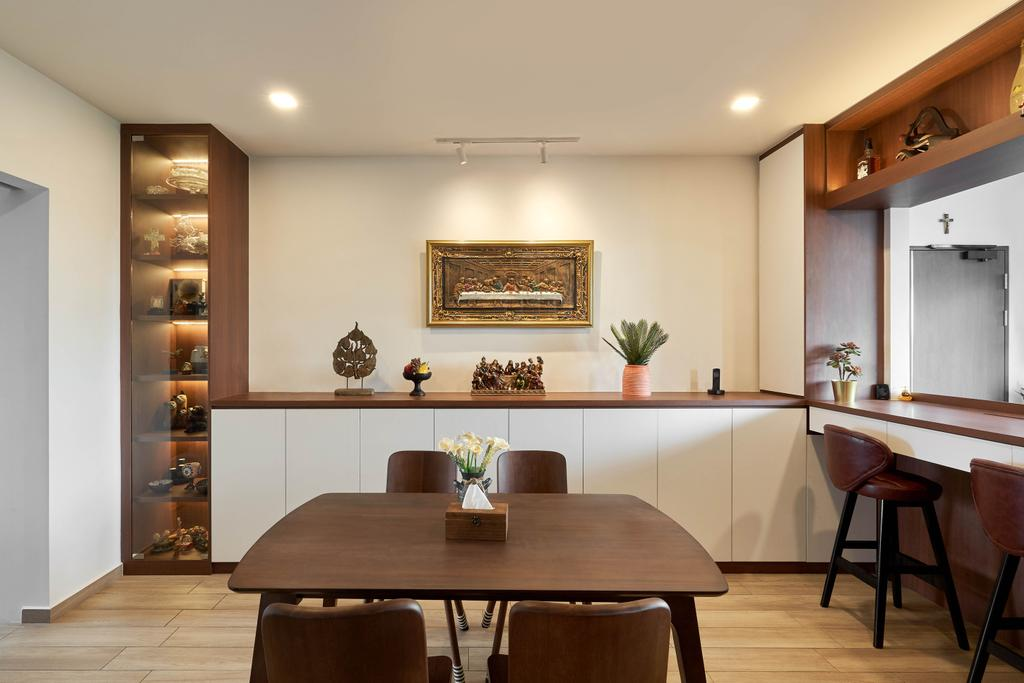 Contemporary, HDB, Dining Room, Jurong West Street 91, Interior Designer, Ethan Interiors