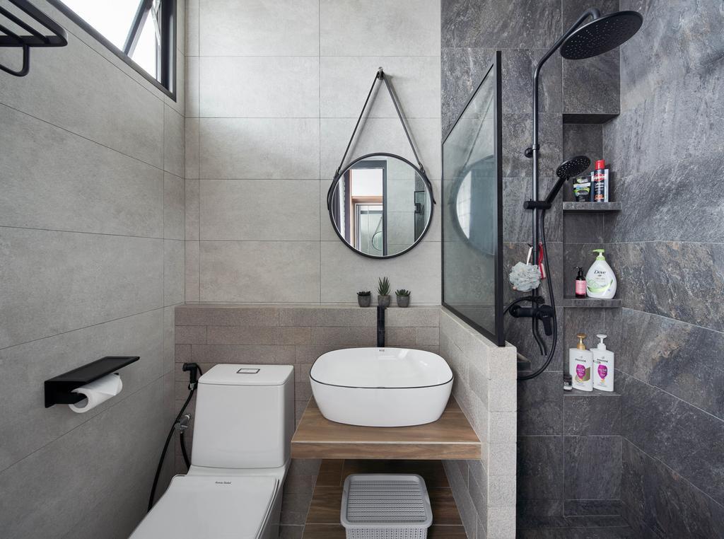 Contemporary, HDB, Bathroom, Jurong West Street 91, Interior Designer, Ethan Interiors