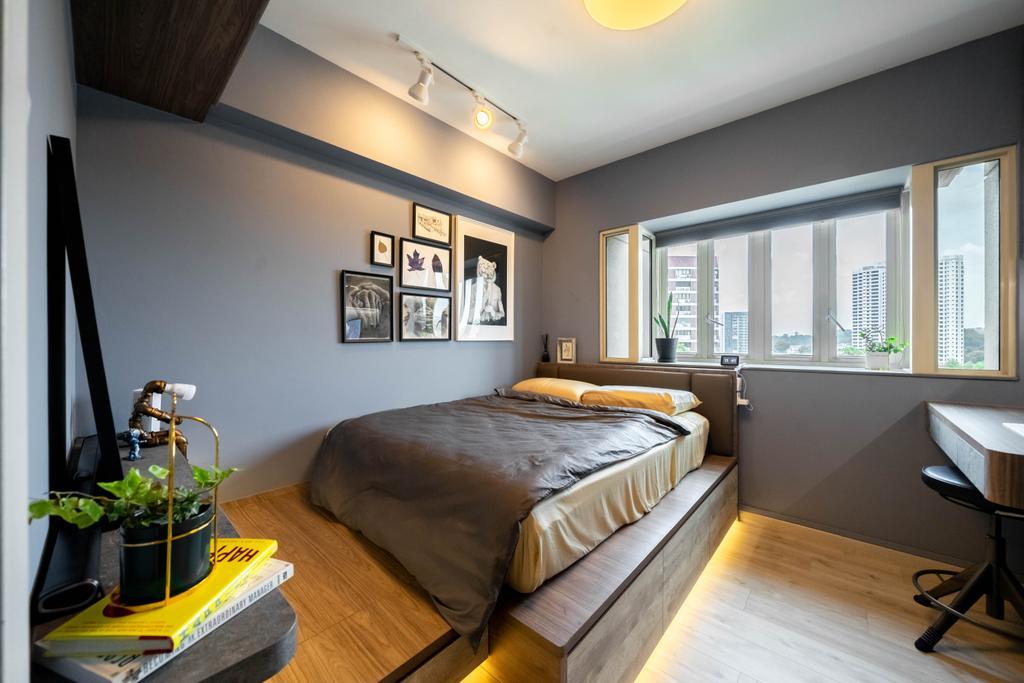 Contemporary, Condo, Bedroom, The Gardens At Bishan, Interior Designer, Design 4 Space