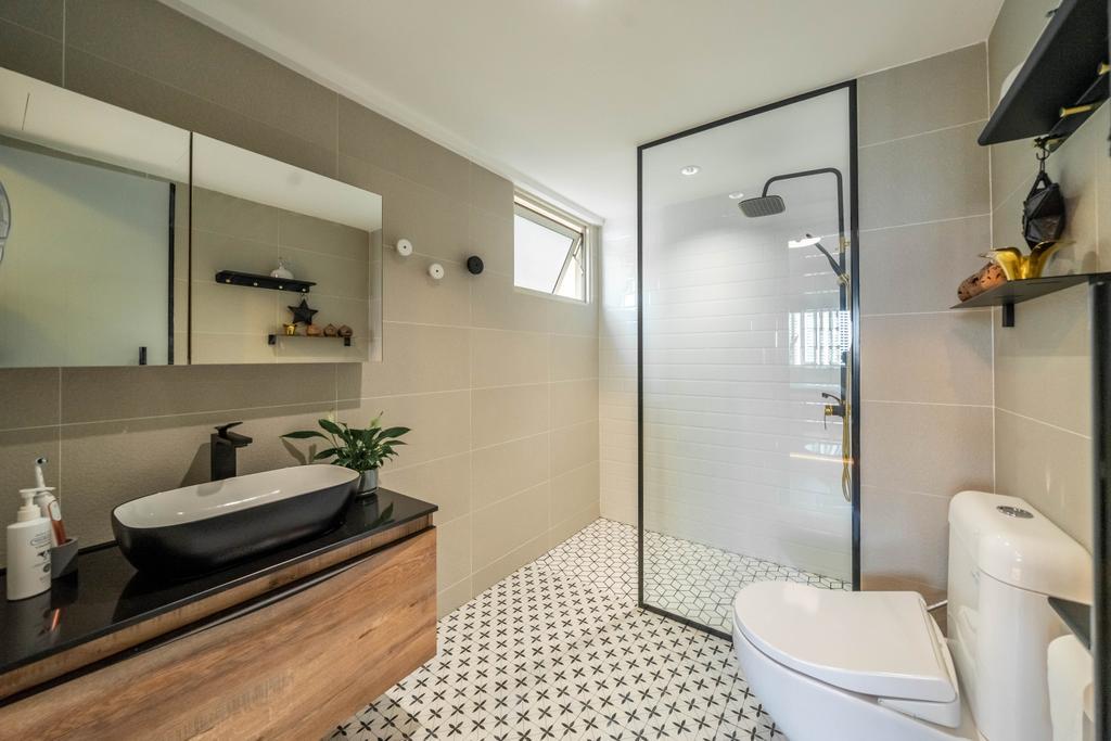 Contemporary, Condo, Bathroom, The Gardens At Bishan, Interior Designer, Design 4 Space