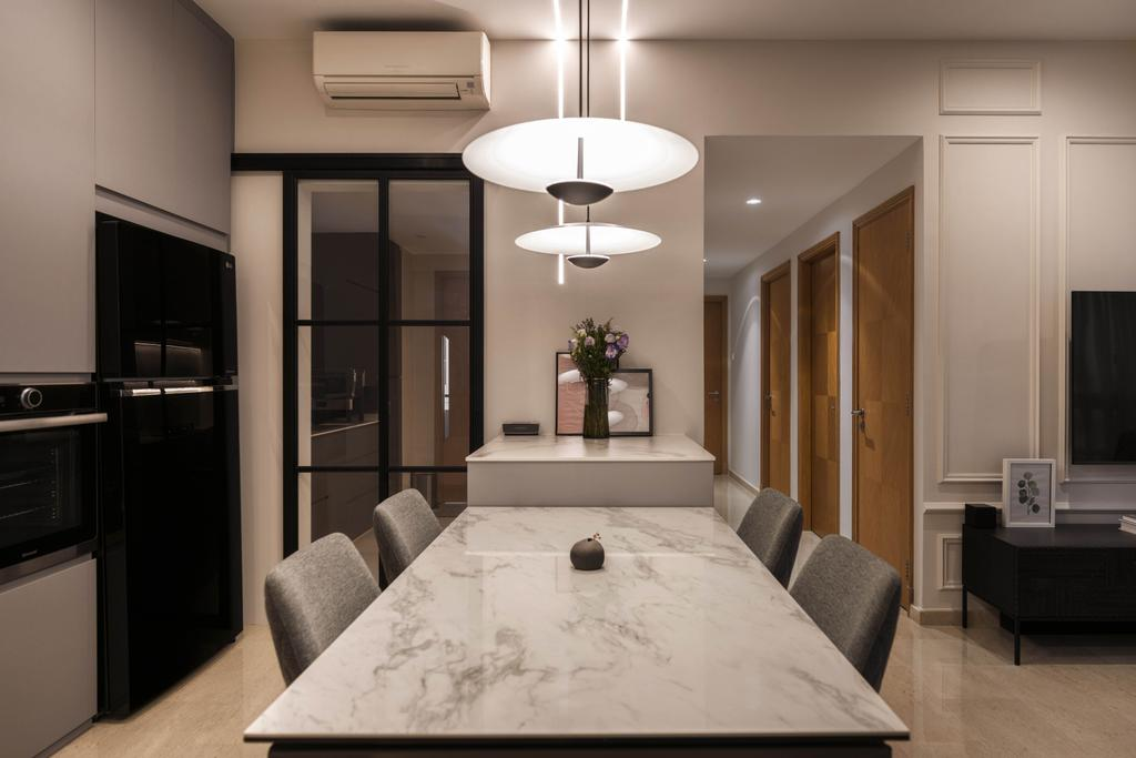 Contemporary, Condo, Dining Room, Haig Court, Interior Designer, Carpenters 匠