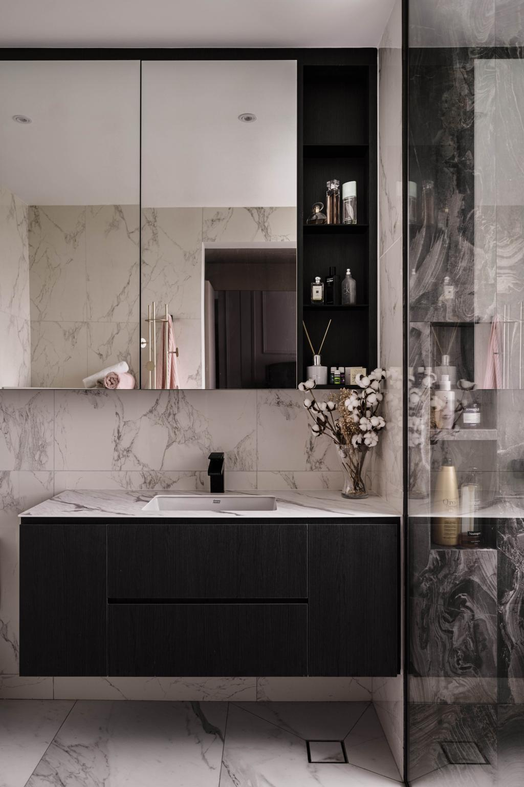 Contemporary, Condo, Bathroom, Haig Court, Interior Designer, Carpenters 匠