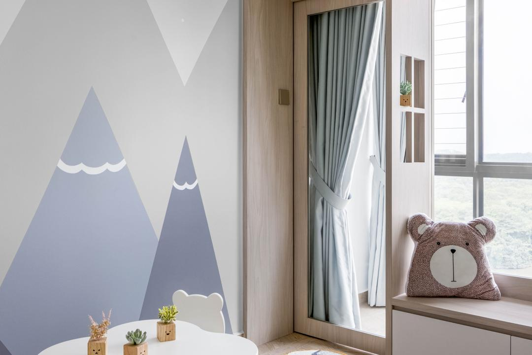 Riversound Residence, Jialux Interior, Contemporary, Bedroom, Condo, Kids Room, Kids Room, Nursery