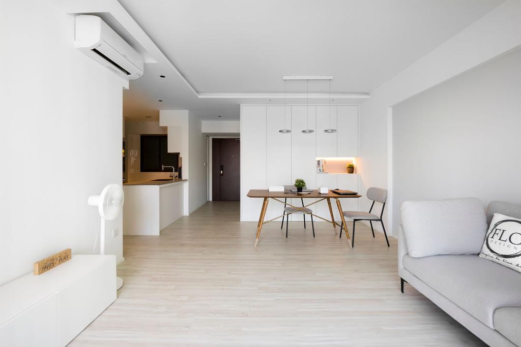 Minimalist, HDB, Living Room, The Pinnacle @ Duxton, Interior Designer, Flo Design, Scandinavian