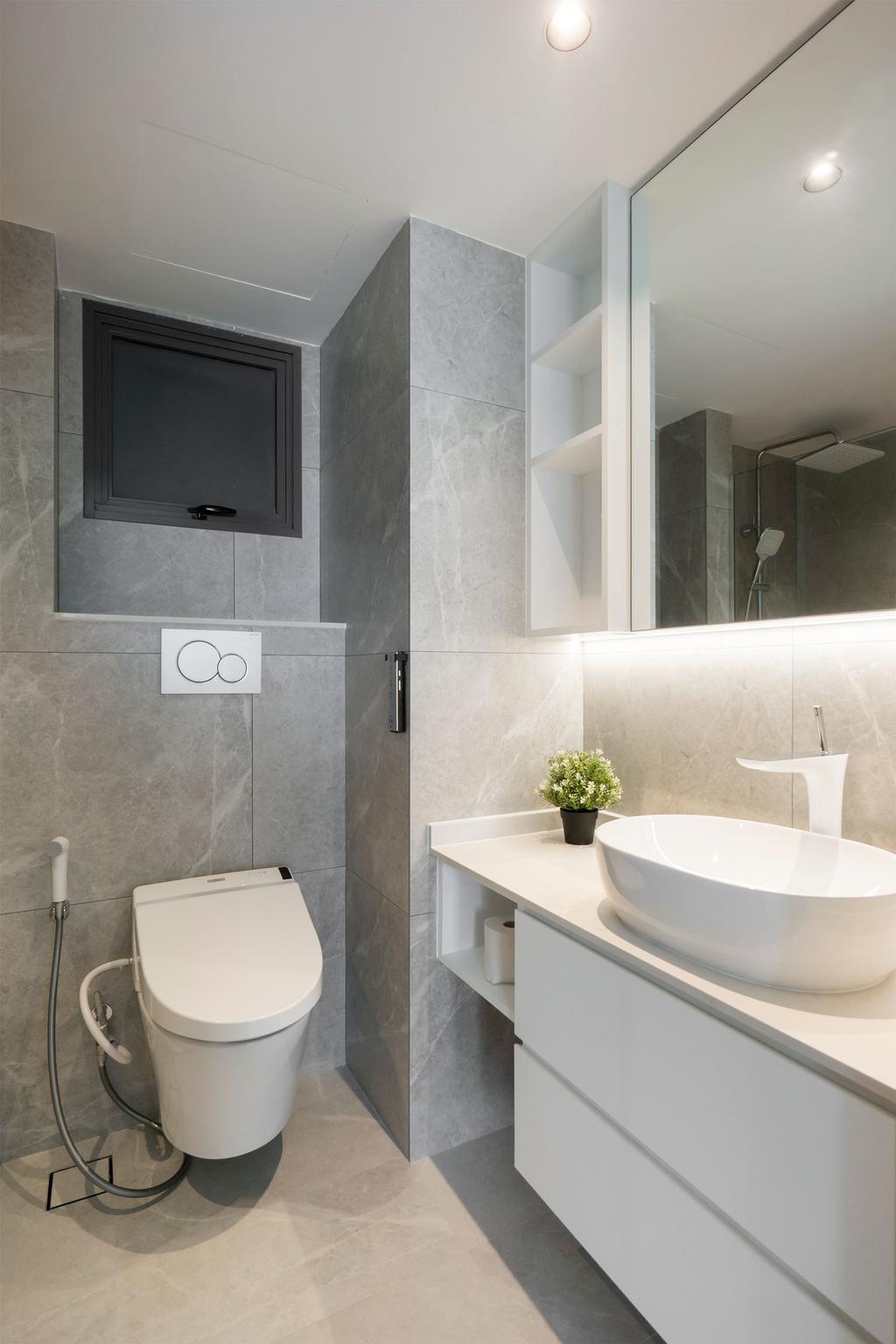 Minimalist, HDB, Bathroom, The Pinnacle @ Duxton, Interior Designer, Flo Design, Scandinavian