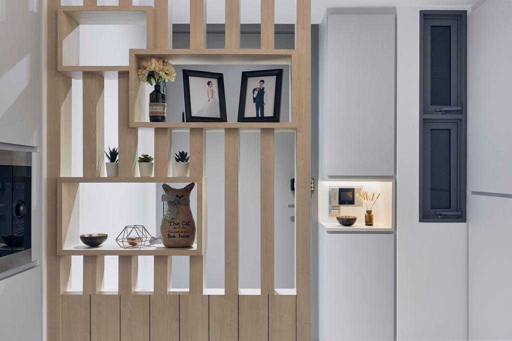 Scandinavian, Condo, Living Room, Riversails, Interior Designer, Charlotte's Carpentry