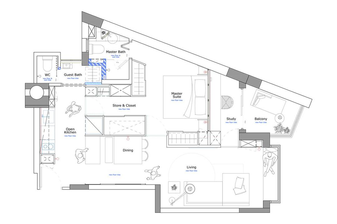 singapore one-bedroom condo renovation
