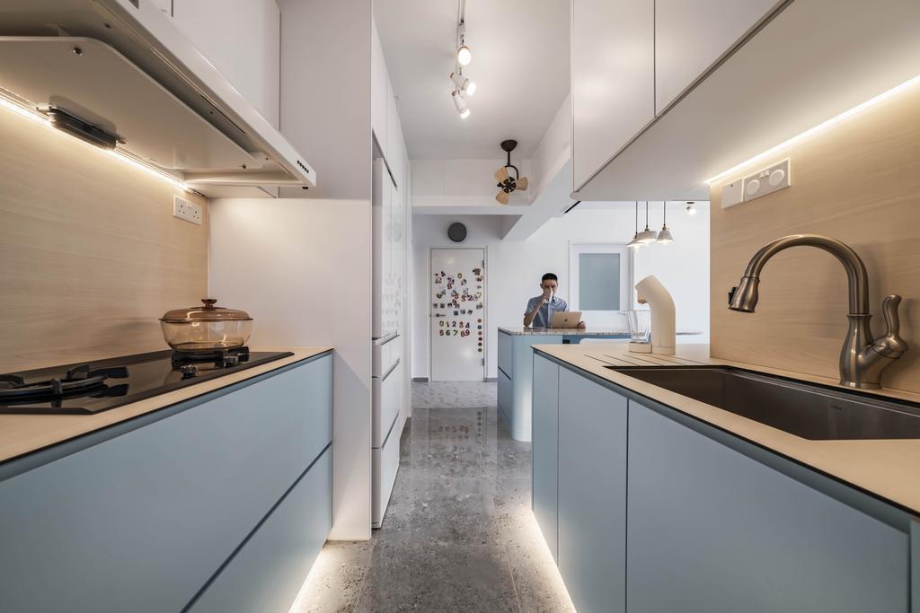 Eclectic, HDB, Kitchen, Bidadari Park Drive, Interior Designer, Zenith Arc, Contemporary