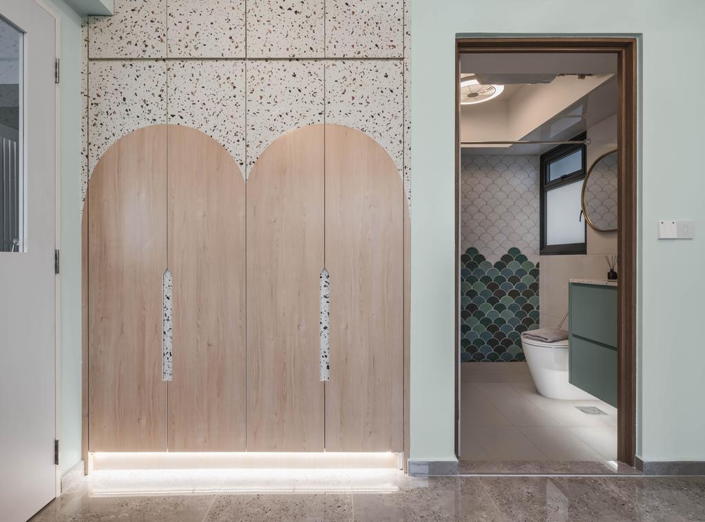 Eclectic, HDB, Bathroom, Bidadari Park Drive, Interior Designer, Zenith Arc, Contemporary