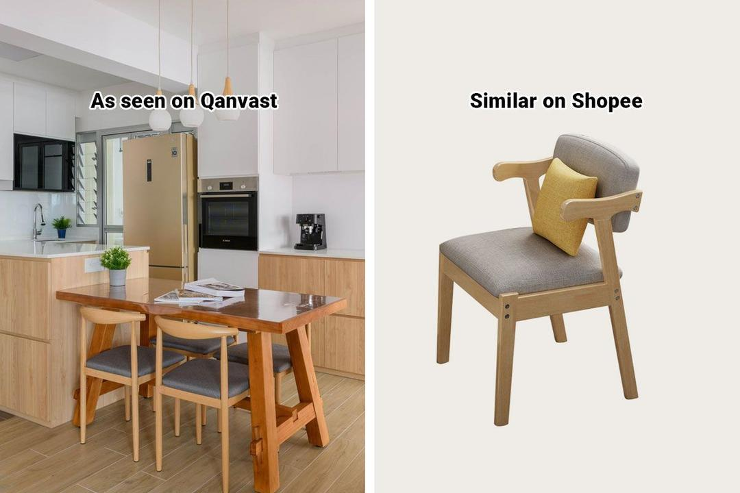 Shopee Home Qanvast's Picks Scandinavian Dining Chair