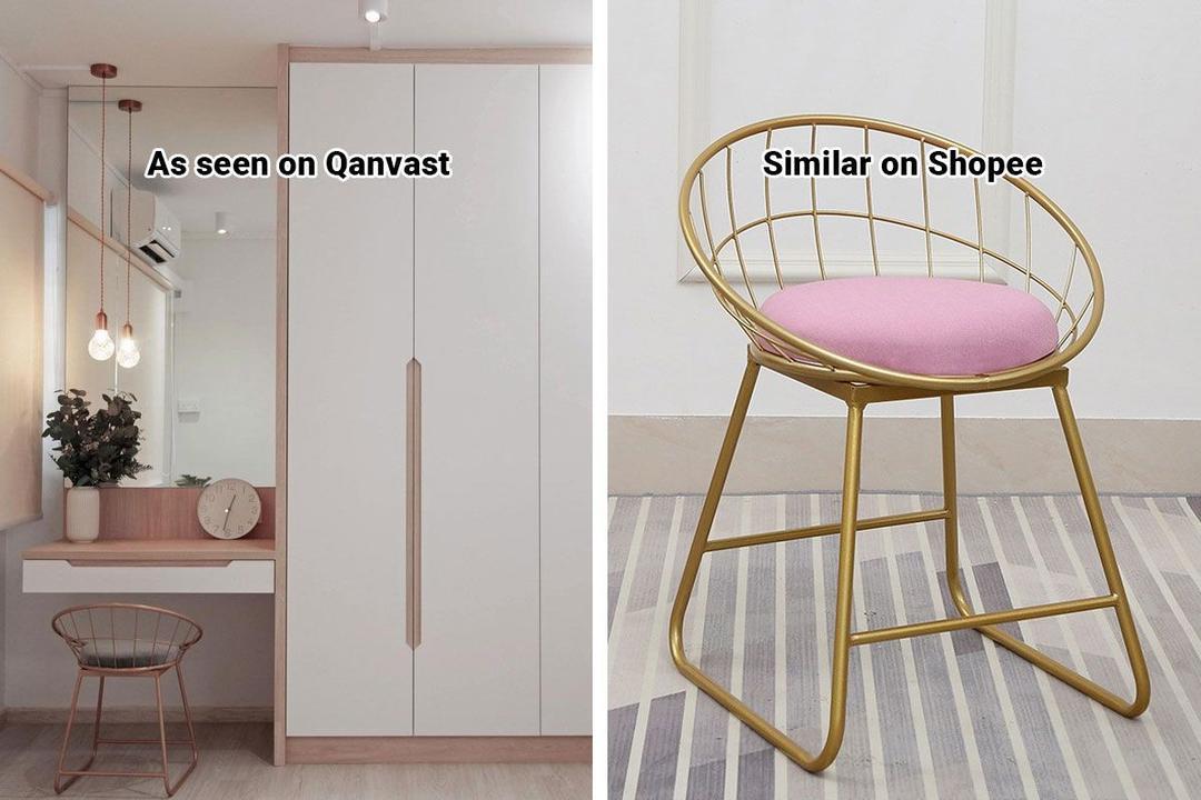 Shopee Home Qanvast's Picks Scandinavian Vanity Chair
