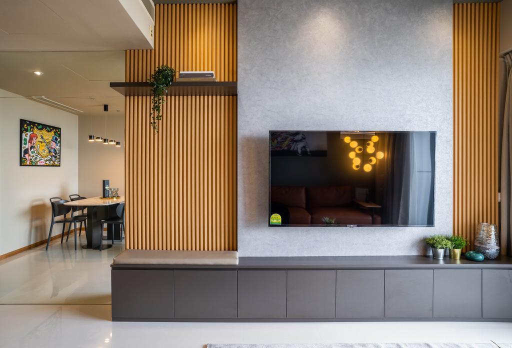 Contemporary, Condo, Marina Bay Residences, Interior Designer, Livspace, Industrial