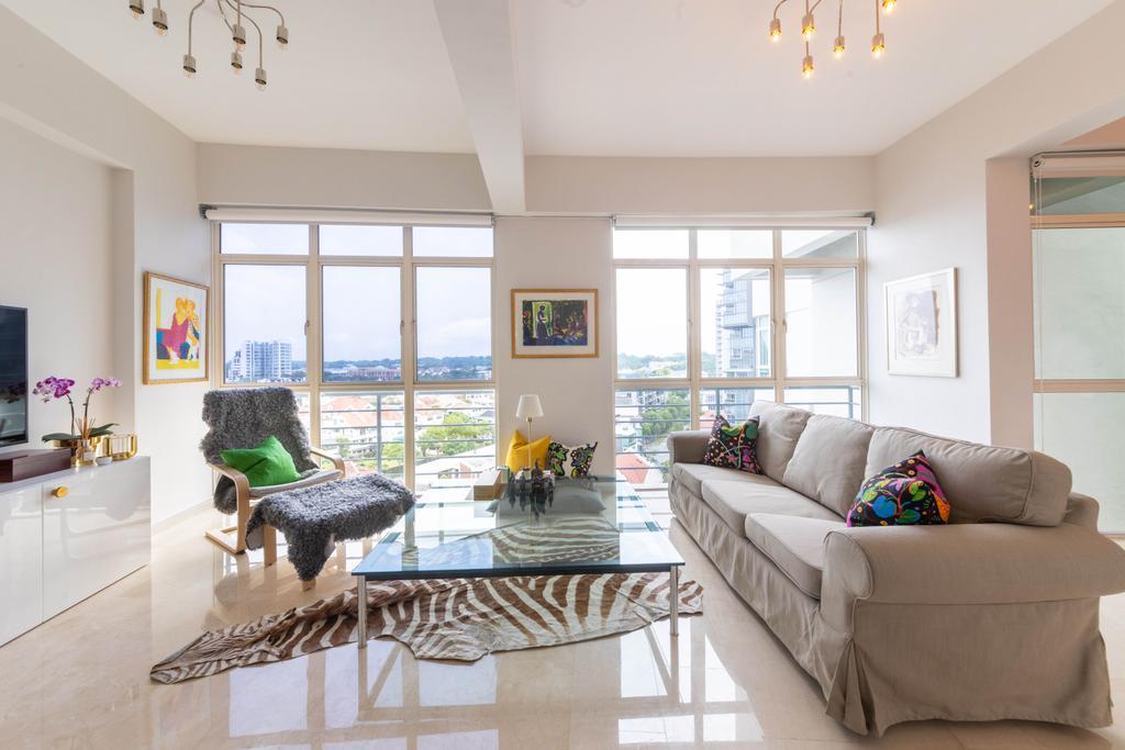 Contemporary, Condo, Living Room, Robin Regalia, Interior Designer, Livspace