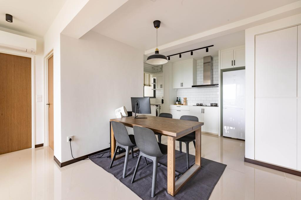 Minimalist, HDB, Dining Room, Skyparc @ Dawson, Interior Designer, Livspace