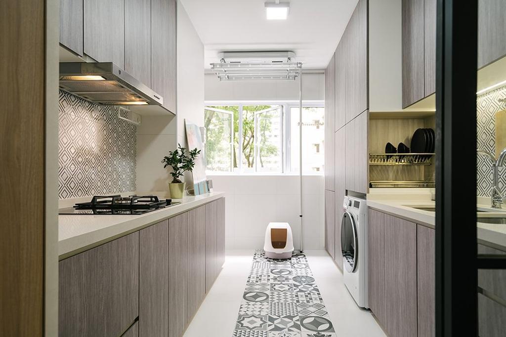 Minimalist, HDB, Kitchen, Serangoon Avenue 3, Interior Designer, Triz Arte