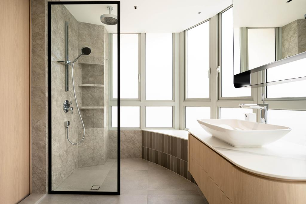 Contemporary, Condo, Bathroom, Clover By The Park, Interior Designer, KDOT