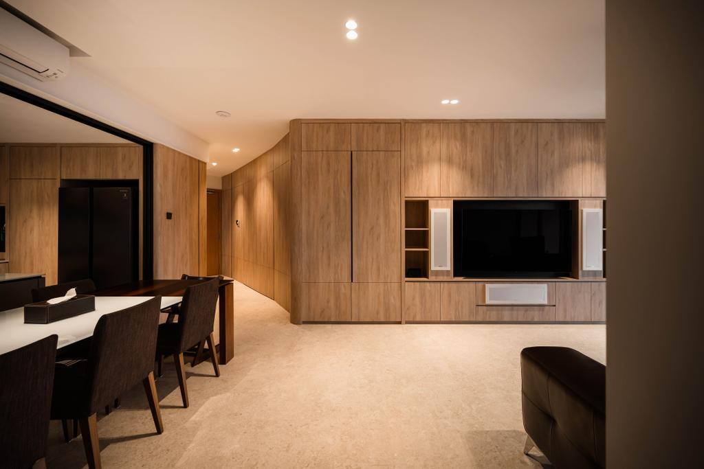 Contemporary, Condo, Living Room, Clover By The Park, Interior Designer, KDOT