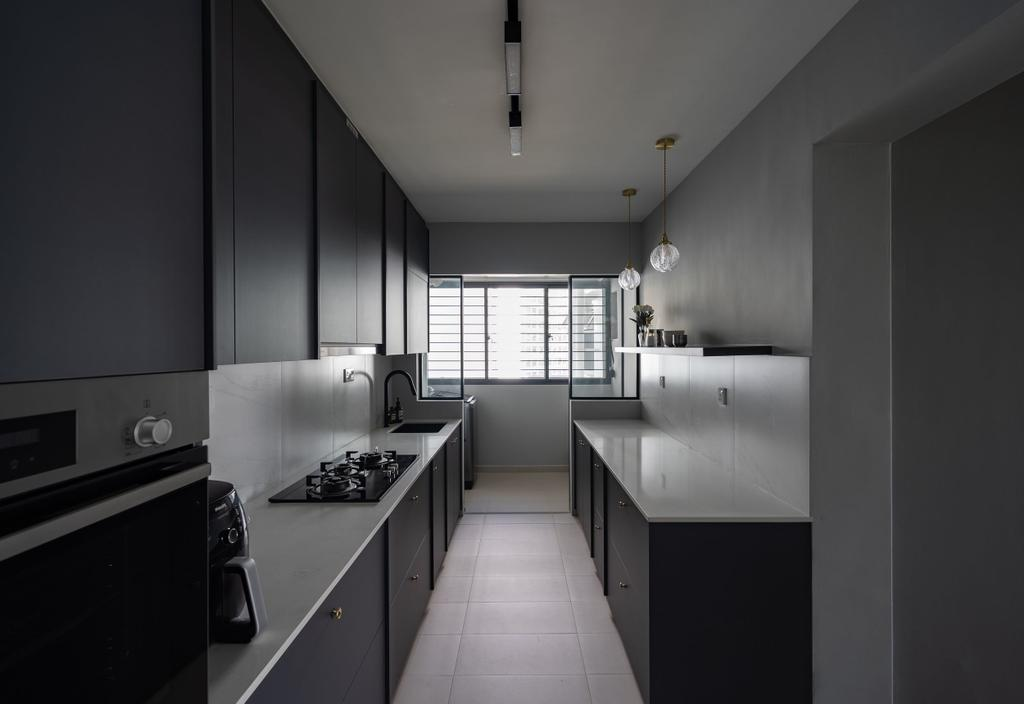 Contemporary, HDB, Kitchen, Tampines GreenVerge, Interior Designer, MET Interior